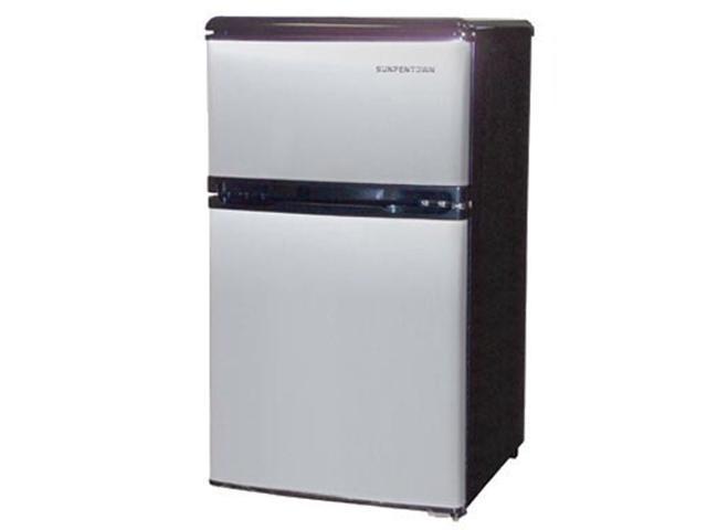 Double Door Compact Refrigerator Stainless Steel RF 320S