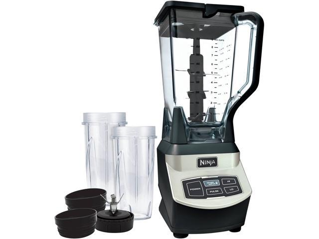 Refurbished: Ninja BL660WM Gray 72 oz. Jar Size 1000 Watts High-Powered Professional Blender with Single Serve Cups