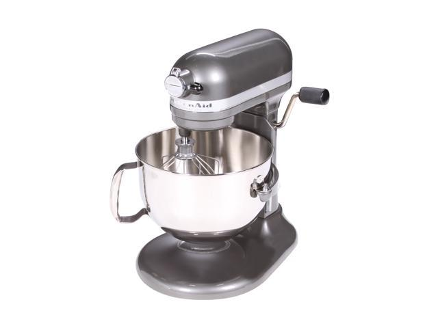 Gentil KitchenAid KP26M1XPM Professional 600 Series 6 Quart Stand Mixer Pearl  Metallic