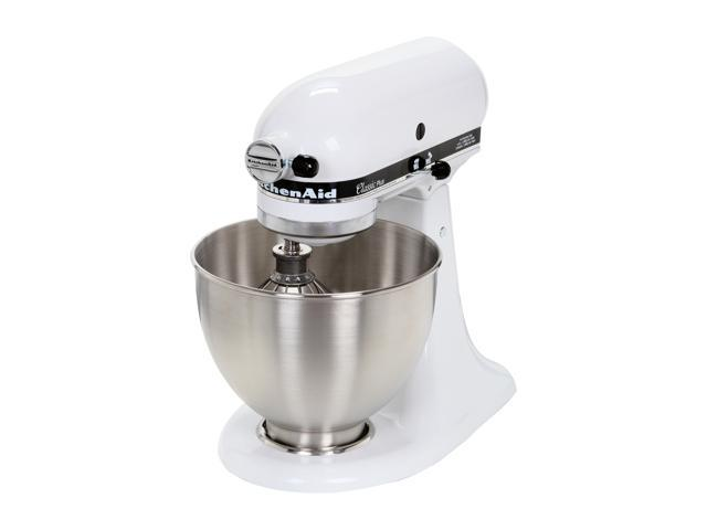 KitchenAid KSM75WH Classic Plus Tilt-Head Stand Mixer White - Newegg.com