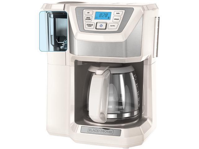 Black & Decker CM5000WD White 12-Cup Mill+Brew Coffeemaker