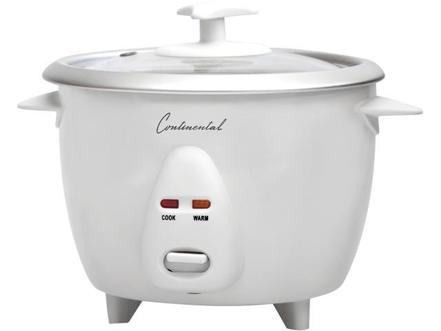 Continental Electric 6 Cup Rice Cooker, White CE23201