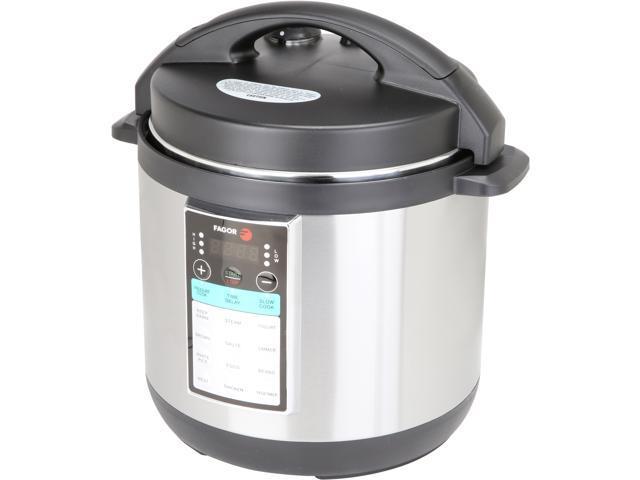 Fagor 976010396 Lux Max Multi Cooker 6 Quart Silver Newegg Com