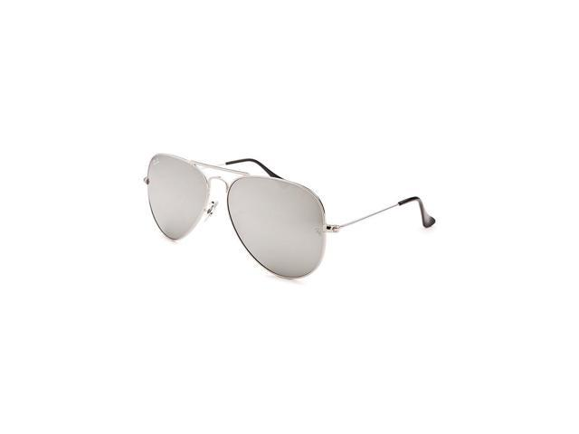 9279a12dc02 Ray-Ban Rb3025-W3277-58 Women s Aviator Classic Silver-Tone Mirrored  Sunglasses