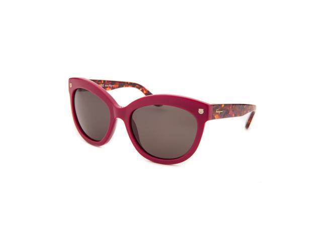 018e4b88ad9 Salvatore Ferragamo Sf675s-512-55 Women s Cat Eye Burgundy Sunglasses