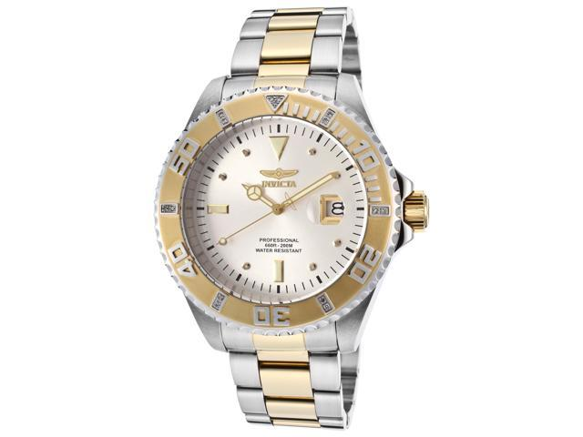 Invicta 15285 Men's Pro Diver Two-Tone Stainless Steel Silver-Tone Dial  Watch