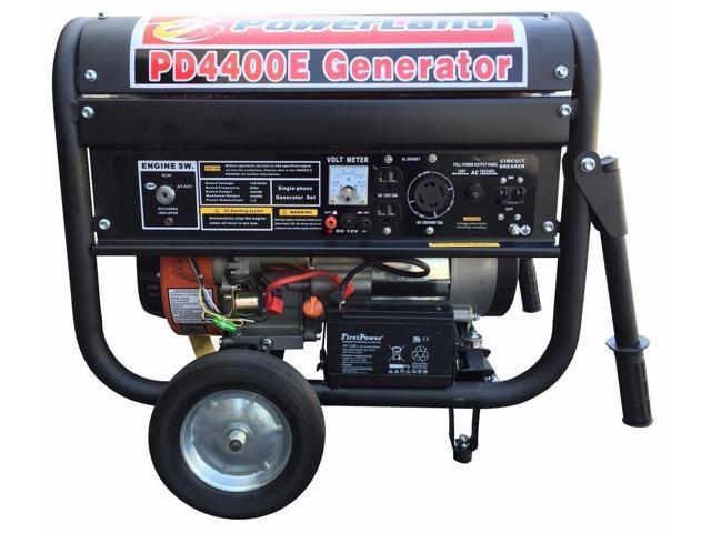 Powerland Pd4400e Portable Gas Generator 4400 Watt 7 5 Hp