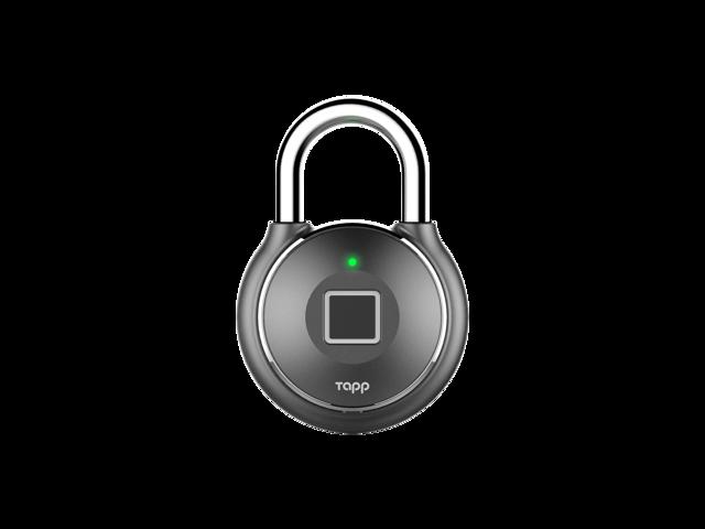 Tapplock Bluetooth Smart Fingerprint Padlock (Gun Metal
