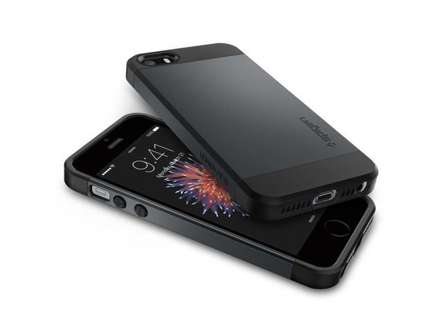 super popular 87b25 68339 Spigen Slim Armor iPhone 5S/5 Case w/Dual Layer Design - Metal Slate -  Newegg.com
