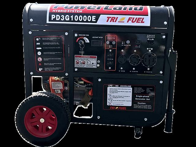 PowerLand PD3G10000E 10KW 16HP Triple Fuel (Gas,LPG,Natural Gas) Generator  Electric Start - Newegg com