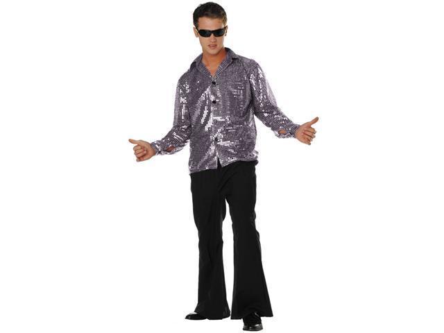 Rg Costumes 85175 Sv Plus Size Disco Inferno 70s Sequin Costume