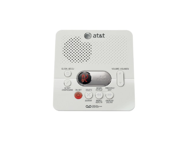 White New In Box AT/&T 1740 Digital Answering System With Time and Day Stamp