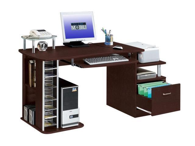 Techni Mobili RTA 2202 CH36 Multifunction Computer Desk   Chocolate