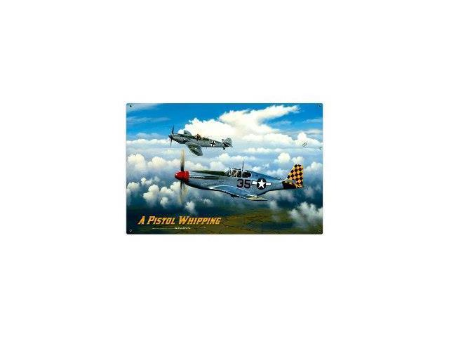 Past Time Signs STK033 Pistol Whipping Aviation Metal Sign - Newegg com
