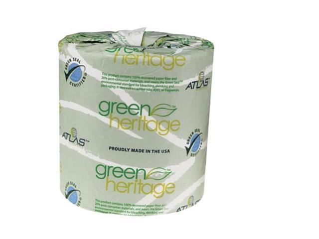 Atlas Paper Mills Apm 115green Green Heritage Bathroom Tissue 1 Ply 4 1 In X 3 1 In