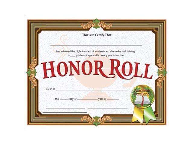 Hayes School Publishing H Va612 Certificates Honor Roll 36pk 8 12