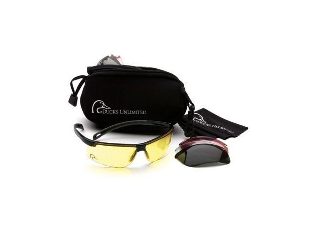 e67c391e2491 Ducks Unlimited DUCAB Shooting Glass with Interchangeable Lenses Black Frame
