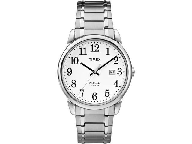 768a1eb99506 Timex TW2P813009J Mens Easy Reader Silver Tone Stainless Steel Expansion  Band Watch
