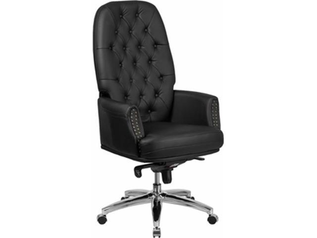 Miraculous Flash Furniture Bt 90269H Bk Gg High Back Traditional Tufted Black Leather Multifunction Executive Swivel Chair With Arms Newegg Com Download Free Architecture Designs Osuribritishbridgeorg