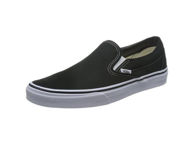 be37949d880743 Vans VEYEBLK-080 Unisex Classic Slip- on Skate Shoes - Black - Mens -