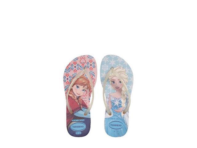 2191fdec5b3b Havaianas 4137266-6615-10C Girls Kids Slim Frozen Sandal Flip Flop