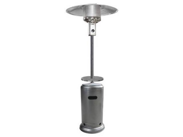 AZ Patio Heaters HLDS01 CBT 87 In. Tall Hammered Silver Patio Heater With  Table