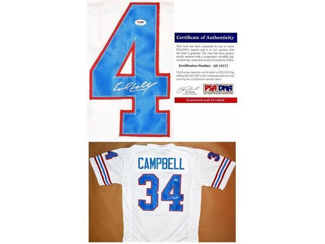 promo code ecf7b 4a4bf Real Deal Memorabilia ECampbellJ-7 Earl Campbell Autographed Houston Oilers  Custom Jersey, White - Newegg.ca