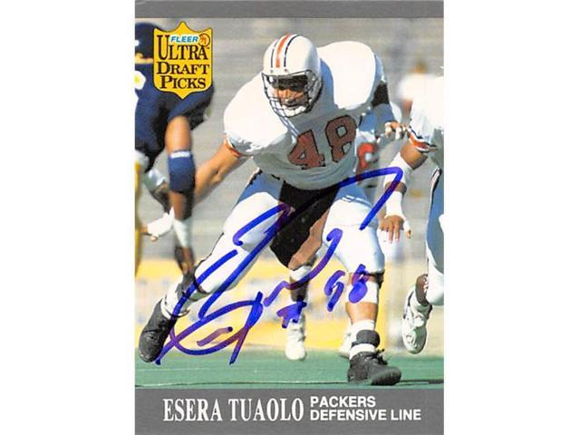 newest collection b8e30 1d695 Autograph Warehouse 344860 Esera Tuaolo Autographed Football Card - Green  Bay Packers, SC 1991 Fleer Draft Picks No. 295 - Newegg.com