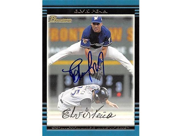 Autograph Warehouse 344044 Elvis Pena Autographed Baseball Card Milwaukee Brewers Ft 2002 Bowman No 160 Neweggcom