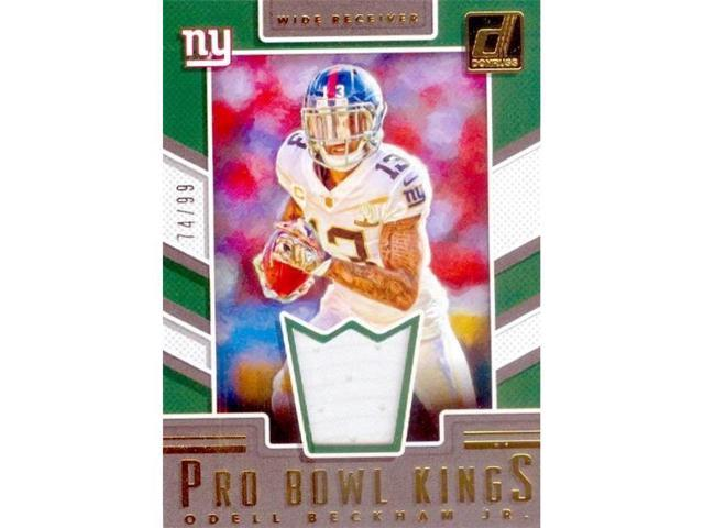 competitive price baf9a f7c7a Autograph Warehouse 345123 Odell Beckham Jr. Player Worn Jersey Patch  Football Card - New York Giants 2017 Panini Pro Bowl Kings No. 17 LE 74 &  99 - ...