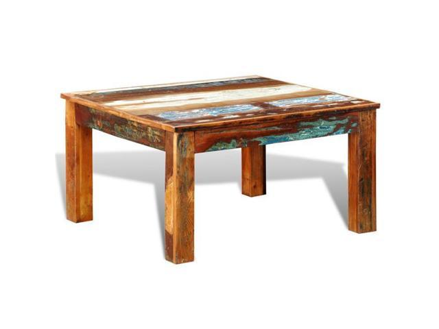 OnlineGymShop CB17976 Living Room Antique-Style Coffee Table Square -  Reclaimed Wood - Newegg.com