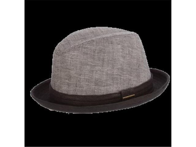 b40c8c9f8dd Dorfman Pacific STC296-BLK3 Stetson Goat Linen Fedora Hat