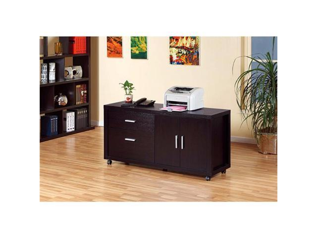 Credenza Dark Brown : Benzara bm148768 contemporary style file credenza with drawers dark