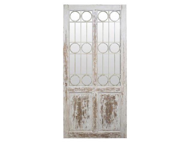 VIP Home U0026 Garden MT2668 Wood Door With Mirror   Antique White