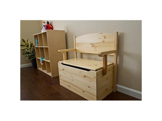 Little Colorado 017UNFNC 30 x 31 x 60 in. Bench Toy Box - Unfinished ...