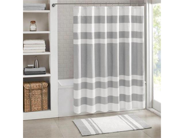 Madison Park MP70 4984 72 X 96 In Spa Waffle Shower Curtain With 3M