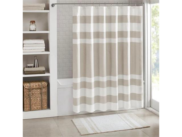 Madison Park MP70 4979 72 X 84 In Spa Waffle Shower Curtain With 3M
