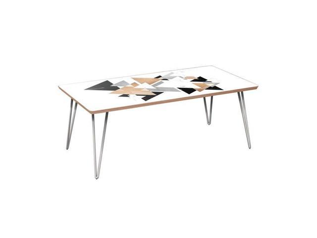 Nyekoncept 12033276 42 X 22 15 75 In Brixton Hairpin Coffee Table Marble Gold Walnut Chrome Newegg