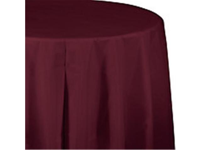 Round Disposable Plastic Table Cover Burgundy  sc 1 st  Newegg.com & CPC 82PCB 82 in. Round Disposable Plastic Table Cover Burgundy ...