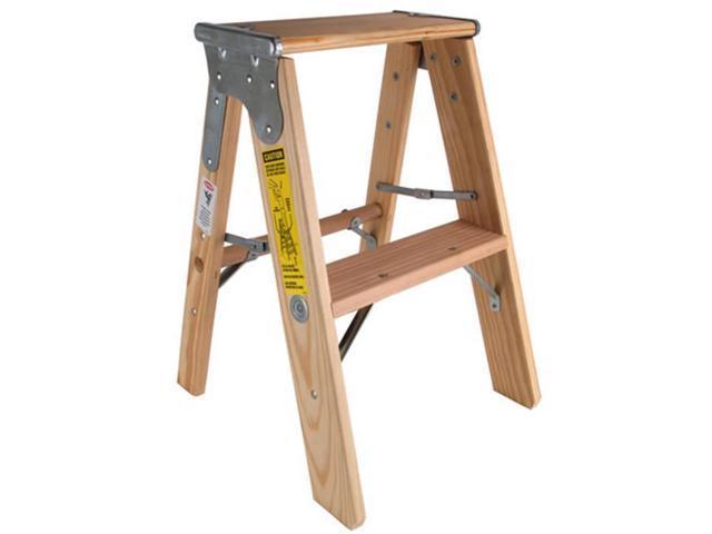 Michigan Ladder 131102 2 Ft Michigan Stocky Wood Step Ladder Neweggcom