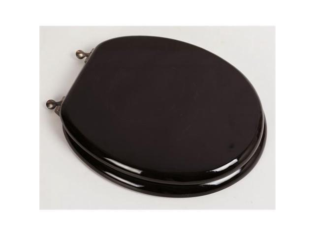 Marvelous Plumbing Technologies 5F1R2 18Ob Designer Solid Round Oak Wood Toilet Seat With Oil Rubbed Bronze Hinges Dark Brown Oak Newegg Com Pabps2019 Chair Design Images Pabps2019Com