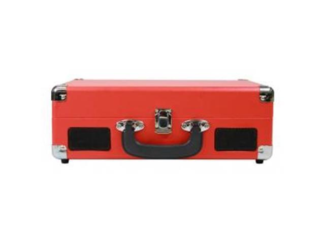 3-In-1 Ccdte Red Stereo Suitcase Turntable System - Newegg com