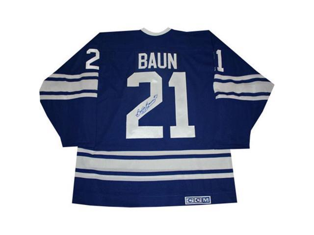 best service 171e6 72f23 Autograph Authentic AAAJH30108 Bobby Baun Autographed Blue Toronto Maple  Leafs Jersey - Newegg.com