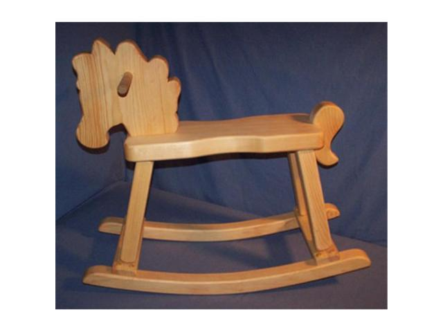 The Puzzle Man Toys W 2200 Wooden Rocking Horse Hand Rubbed Natural Oil Neweggcom