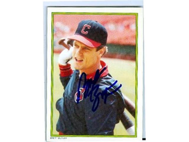 Autograph 156798 Cleveland Indians 1986 All Star Set No 52 Brett Butler Autographed Baseball Card Neweggcom