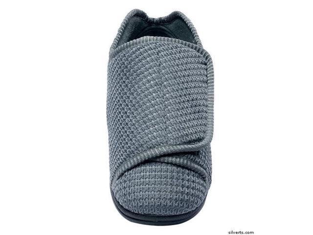 daf4ed66229d Silverts 101050108 Mens Extra Wide Swollen Feet Diabetic   Edema Deep  Slippers