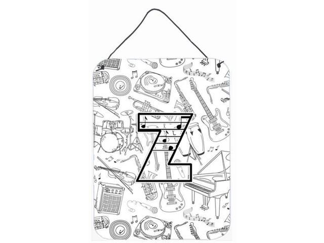 Carolines Treasures CJ2007-ZDS1216 Letter Z Musical Note Letters Wall and  Door Hanging Prints - Newegg com