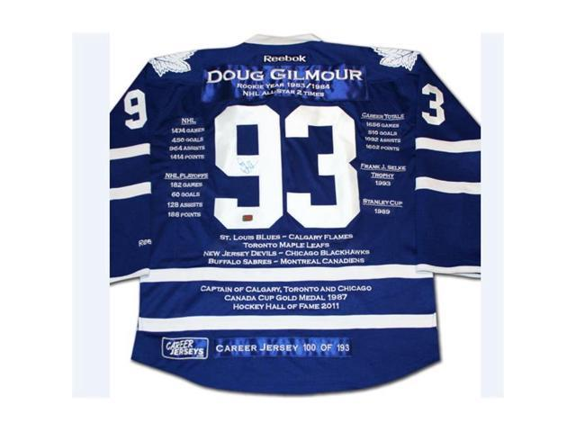new concept 73a6c 0a31b Career Jerseys Doug Gilmour Limited Edition Autographed Career Jersey,  Toronto Maple Leafs - Newegg.com