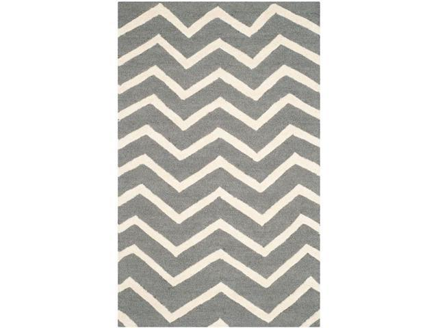 Safavieh CAM714D-2 Cambridge Hand Tufted Accent Rug, Dark Grey & Ivory - 2