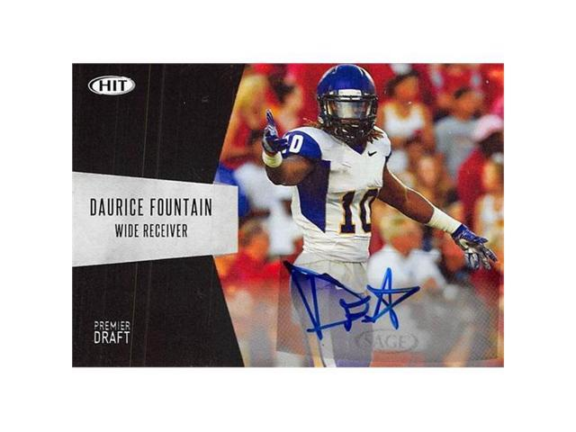 official photos 32761 b4bc1 Autograph Warehouse 444661 Daurice Fountain Autographed Football Card 2018  Sage Hit Draft Rookie No. A10 for Northern Iowa - Newegg.com